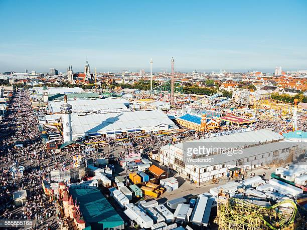Germany, Bavaria, Munich, View of Oktoberfest fair on Theresienwiese