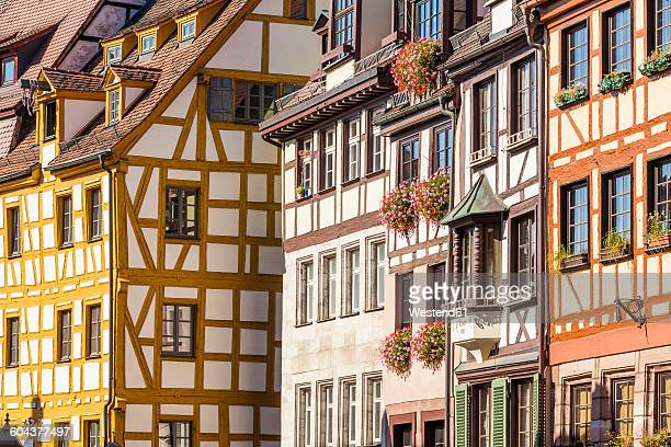 Germany, Bavaria, Nuremberg, half-timbered houses