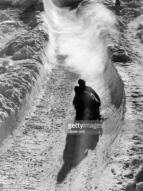 Germany Bavaria olympic winter games in GarmischPatenkirchen bobsled race 1936
