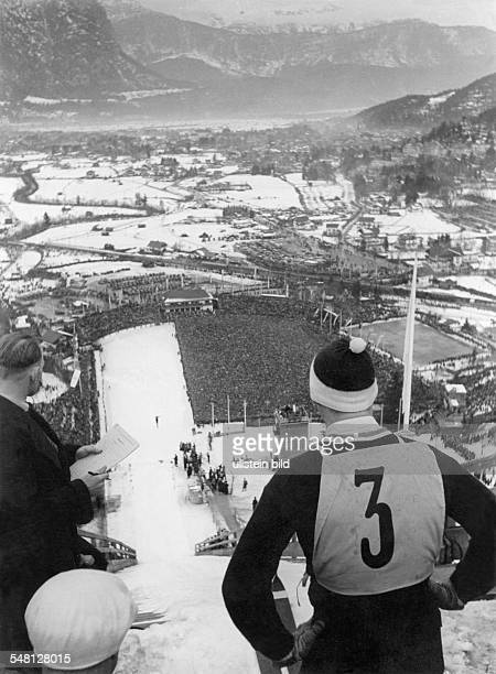 Germany Bavaria - olympic winter games in Garmisch-Patenkirchen, view from the ski jump - 1936