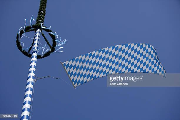 Germany, Bavaria, Penzberg, Maypole