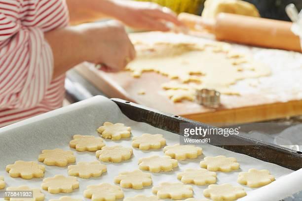 Germany, Bavaria, Preparation of Christmas cookies