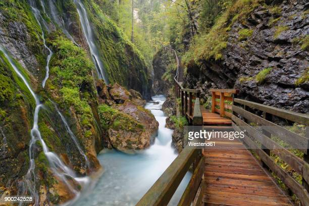 germany, bavaria, ramsau, wimbachklamm - berchtesgaden alps stock photos and pictures