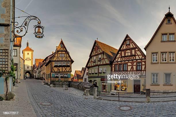 Germany, Bavaria, Rotheburg ob der Tauber, View of Ploenlein