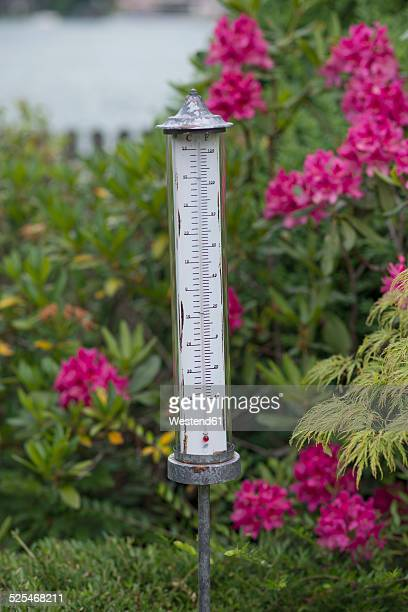 Germany, Bavaria, Rottach-Egern, outdoor thermometer