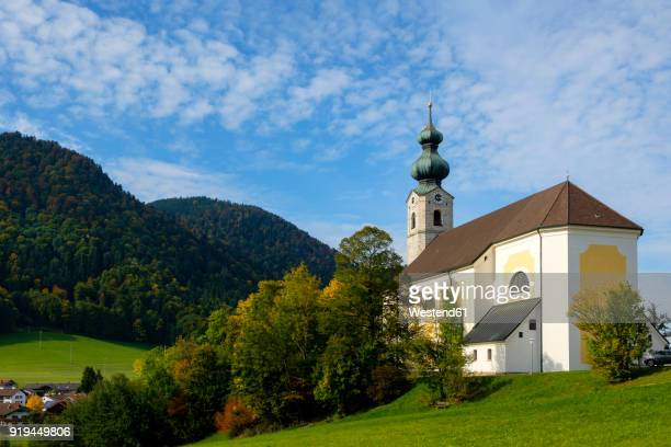 Germany, Bavaria, Ruhpolding, View of St. George Church