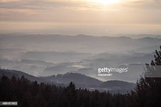 Germany, Bavaria, Sankt Englmar, View above Bavarian Forest