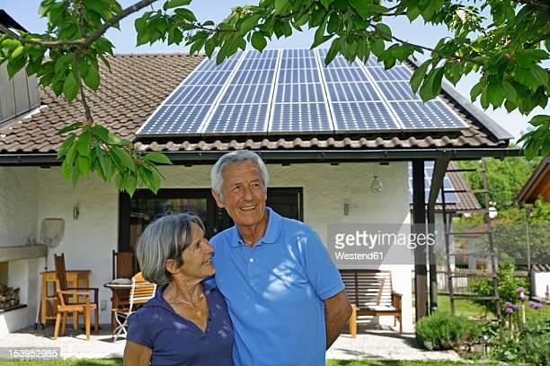 Germany, Bavaria, Senior couple smiling