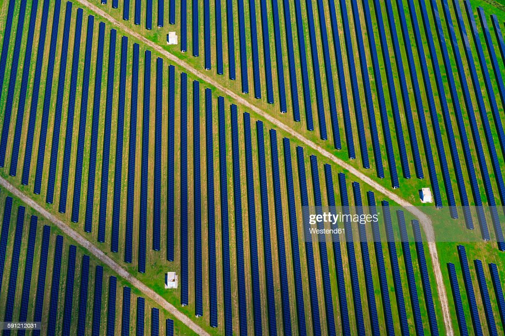 Germany, Bavaria, solar plant : Stock Photo