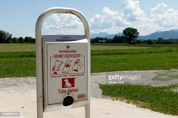 Germany Bavaria spending box for plastic bags to pick up dog excrements