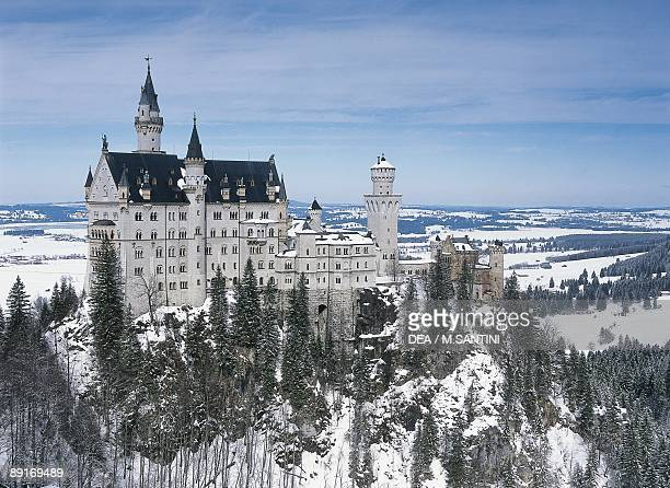 Germany Bavaria Surroundings of Fussen Neuschwanstein castle