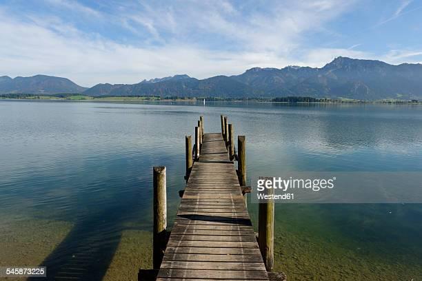 Germany, Bavaria, Swabia, East Allgaeu, Lake Forggensee near Rieden