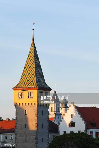 Germany, Bavaria, Swabia, Lindau, View of Mangturm tower