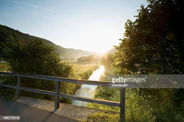 Germany, Bavaria, Trubachtal, Bridge over brook