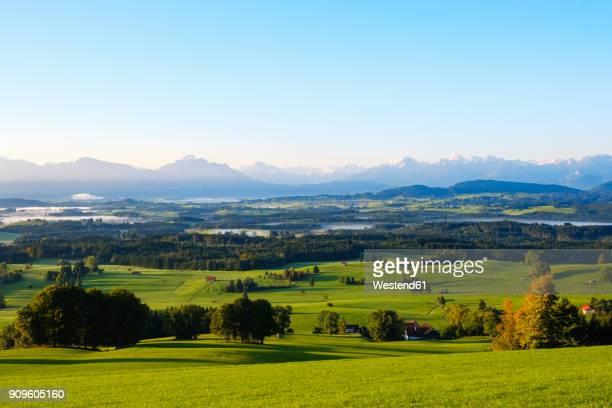 Germany, Bavaria, Upper Bavaria, Allgaeu, Pfaffenwinkel, Bernbeuren, View from Auerberg
