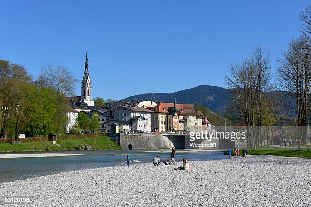 germany, bavaria, upper bavaria, bad toelz, isar river - upper bavaria stock photos and pictures
