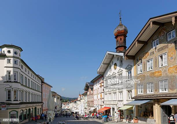 germany, bavaria, upper bavaria, bad toelz, old town, marktstrasse - upper bavaria stock photos and pictures