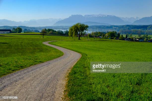 Germany, Bavaria, Upper Bavaria, Chiemgau, Rupertiwinkel, View from Bicheln, Tettenhausen and Waginger See, Berchtesgaden and Chiemgauer Alps