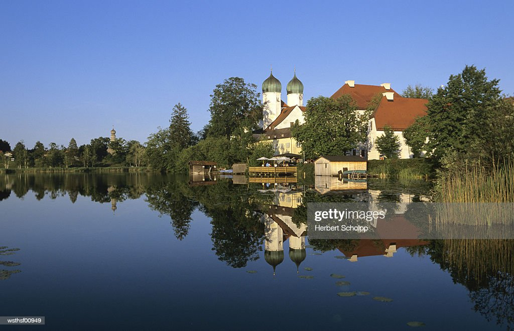 Germany, Bavaria, Upper Bavaria, Cloister Seon at the Chiemsee : Stockfoto