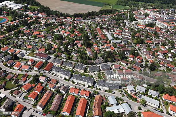 Germany, Bavaria, Upper Bavaria, Geretsried, Aerial view of town