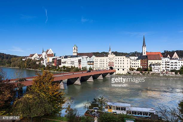 Germany, Bavaria, Upper Bavaria, Wasserburg am Inn, Brucktor or city gate at Gate bridge