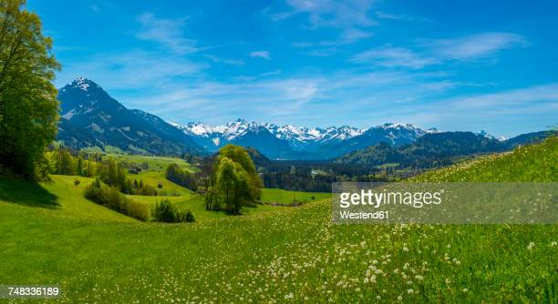 Germany, Bavaria, view from Malerwinkel near Altstaedten towards Illertal