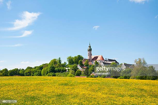 Germany, Bavaria, View of Andechs Abbey