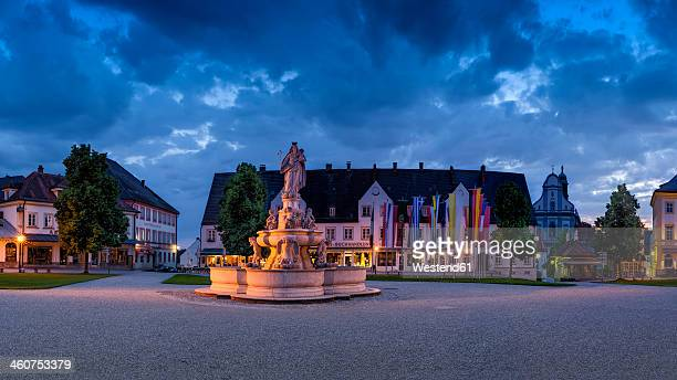 germany, bavaria, view of baroque madonna fountain - altötting stock photos and pictures