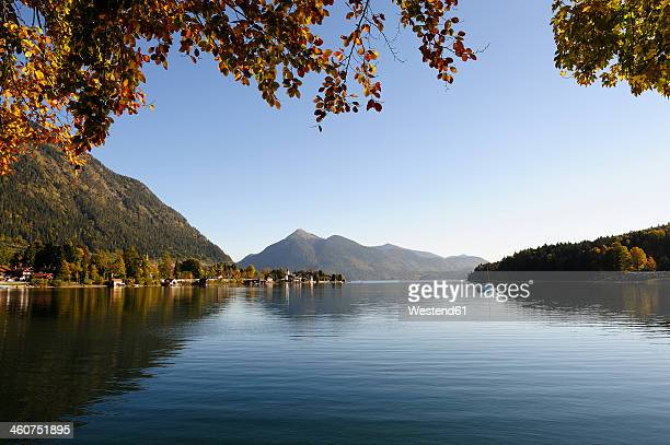 Germany, Bavaria, View of Lake Walchensee and Jochberg mountain in background