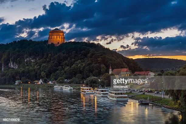 Germany, Bavaria, View of Liberation hall near Danube river