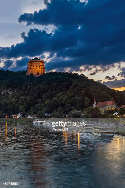 Germany, Bavaria, View of Liberation hall near Danube river