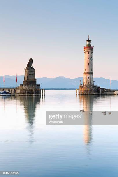 Germany, Bavaria, View of lighthouse at Lindau
