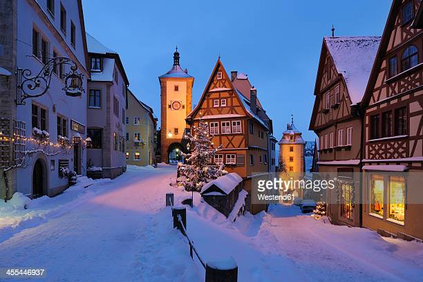 Germany, Bavaria, View of Sieber tower and Kobolzeller tower during winter