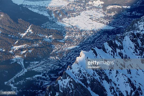 Germany, Bavaria, View of snowy mountain