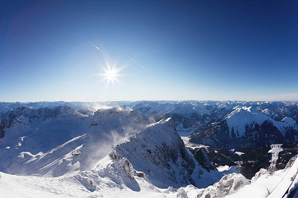 Germany, Bavaria, View Of Snowy Mountains Wall Art