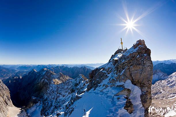 Germany, Bavaria, Wetterstein Mountains, Zugspitze, Summit Cross Wall Art