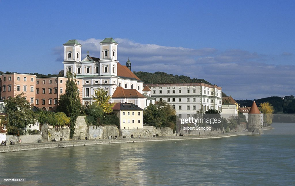Germany, Bavarian Forest, Studienkirche in Passau : Stock Photo