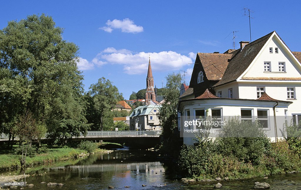 Germany, Bavarian Forest, village of Zwiesel : Stock Photo