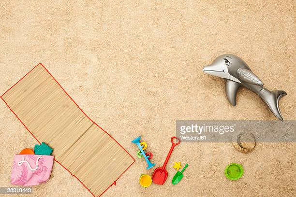 Germany, Beach toys on beach