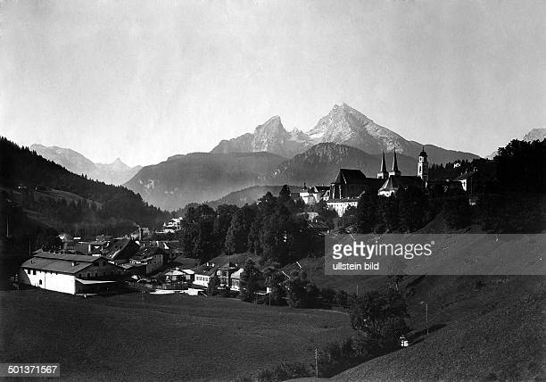 Germany Berchtesgaden famous mountain named Watzmann date unknown