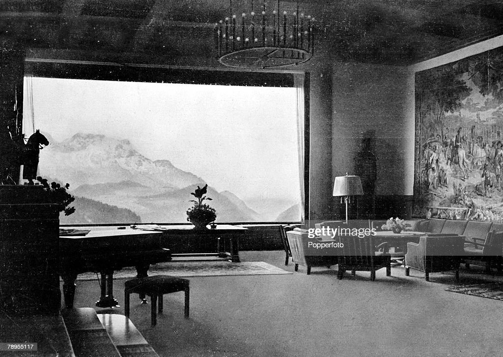 Germany, 'Berghof' (Haus Wachenfeld), The great hall inside Nazi leader Adolf Hitler's chalet in thew mountains