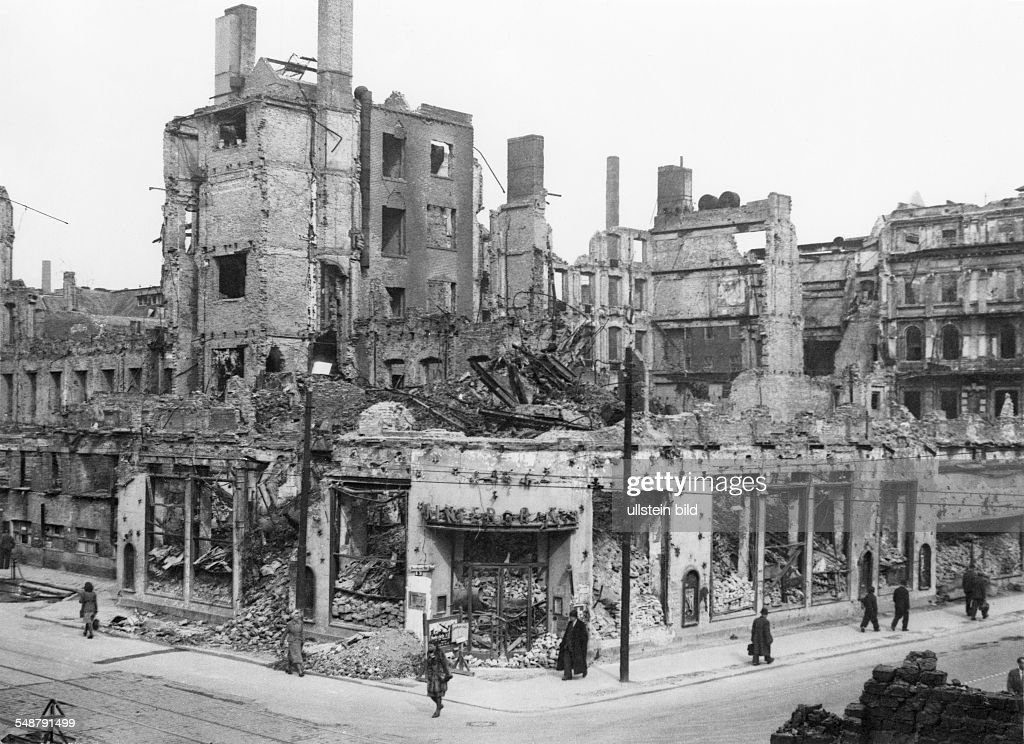 Germany Berlin American Sector: View Of The Destroyed Building Which  Formerly Housed The Wintergarten Variete