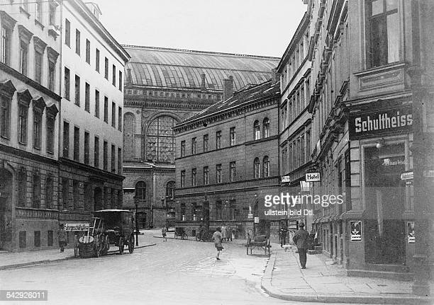 Germany Berlin Bahnhofstrasse from Schoeneberger Strasse to the Anhlater Bahnhof station Photographer Paul Mai Published in Berliner Morgenpost...