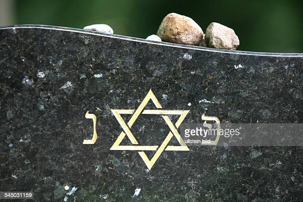 jewish cemetery Star of David on a tombstone