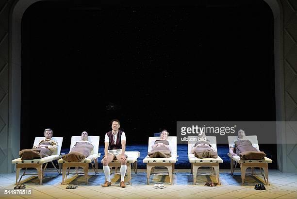 MaximGorkiTheatre play The Magic Mountain by Thomas Mann director Stefan Bachmann premiere 27 September 2008actors Gunnar Teuber Miguel Abrantes...