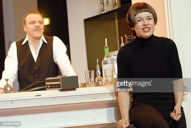 MaximGorkiTheatre / Studio presenting 'Miss Sara Sampson' by Gotthold Ephraim Lessing directed by Barbara Weber actors Anja Schneider Ronald Kukulies