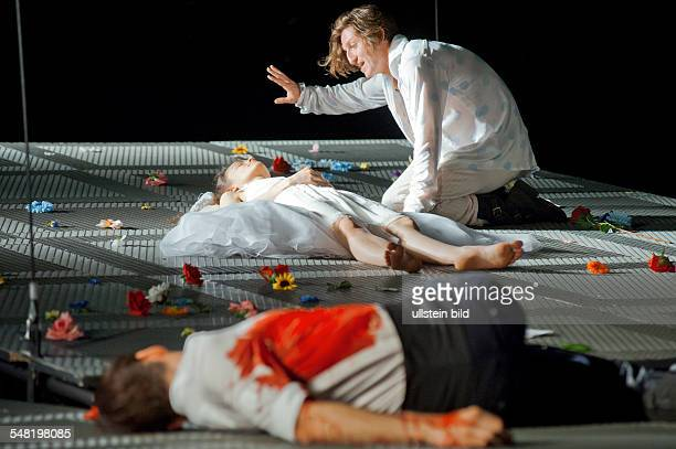 Germany Berlin Berliner Ensemble play Romeo and Juliet by William Shakespeare directed by Mona Kraushaar actors Dejan Bucin Anna Graenzer Christopher...