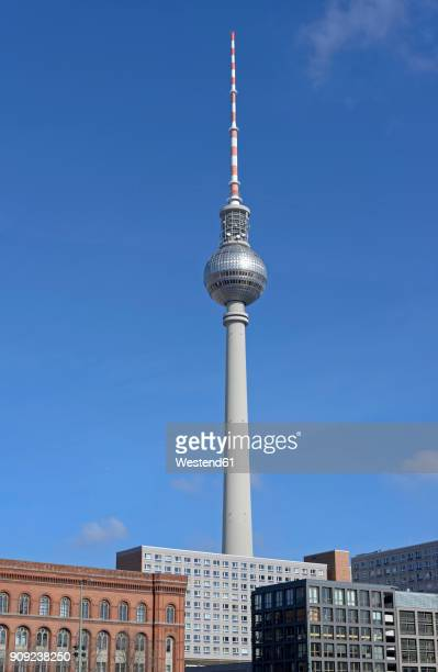 germany, berlin, berlin-mitte, berlin tv tower - central berlin stock photos and pictures