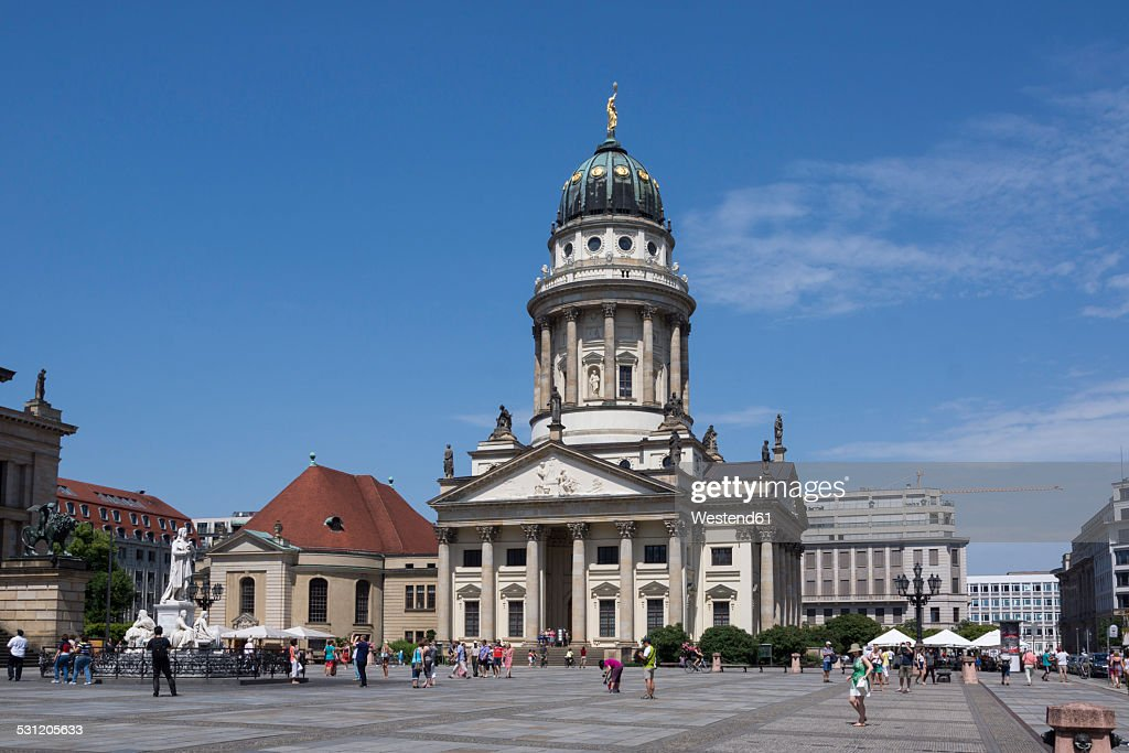 Germany, Berlin, Berlin-Mitte, Gendarmenmarkt, French Cathedral : Foto de stock
