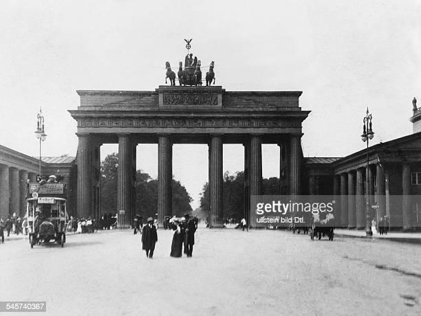 Germany, Berlin, Brandenburg Gate 1909